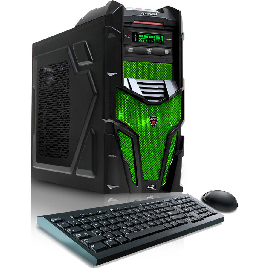 CybertronPC Shockwave X6-9600 Desktop PC with AMD FX-6300 Hexa-Core Processor, 16GB Memory, 1TB Hard Drive + 8GB SSD and Windows 10 (Monitor Not Included)