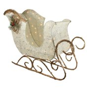 Northlight 39 in. Tinsel and Sisal Sleigh Pre Lit Christmas Yard Decoration