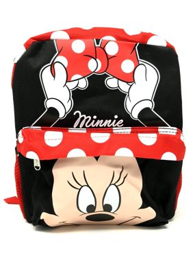 24669971d0 Product Image 12in Disney Minnie Mouse 3D Happy Face White Dot Small School  Backpack