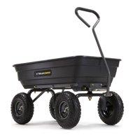"Gorilla Carts GOR4PS 600-lb. Steel Garden Dump Cart with 10"" Tires"