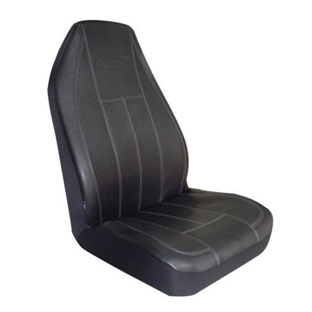 Types Seat Cover (Type S SC01932B-6 Black Sportex Simulated Leather Bucket Seat Cover )