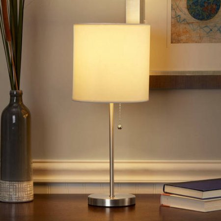 Mainstays Stick Table Lamp with Shade, CFL Bulb Included