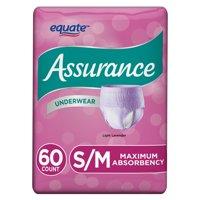 (2 Pack) Assurance Incontinence Underwear for Women, Maximum, S/M, 60 Ct