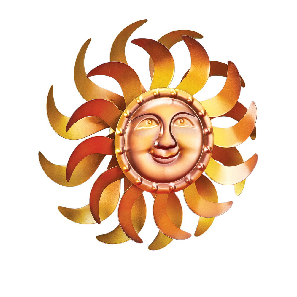 Double Sun Mountable Wind Spinner by Collections Etc