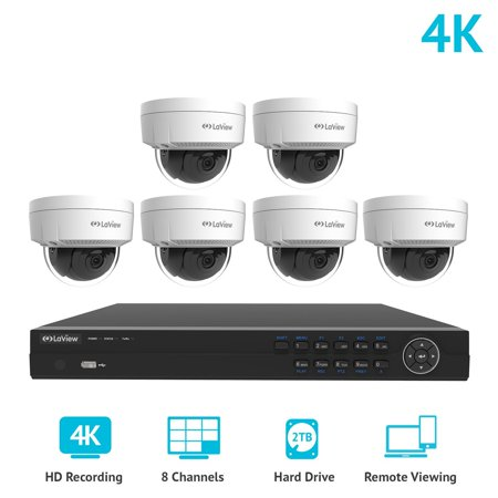 laview 8 channel 4k nvr security system w6 dome 8mp 2160p ip poe indoor - Nvr Security System