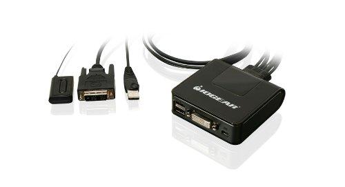 IOGEAR 2-Port USB DVI Cable KVM Switch (GCS922U) by IOGEAR