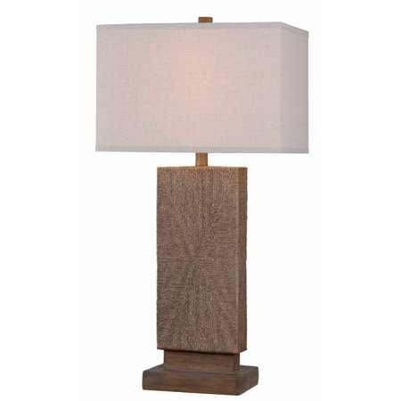 Kenroy Home Raffia Table Lamp, Toasted Almond