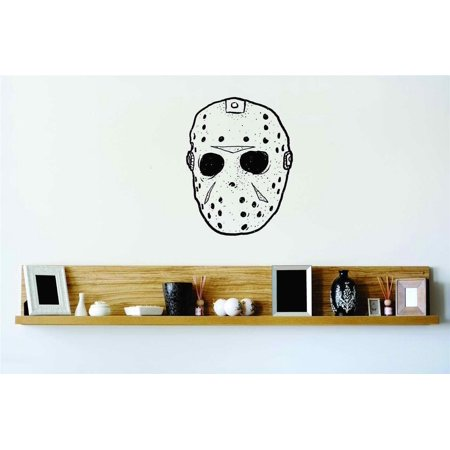 Jason Face Mask Scary Wall Decal Sticker Home Halloween Party Decoration Kids Boy Girl Teen Dorm Room Children 20x16