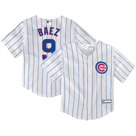 watch 195a8 68ed1 Javier Baez Chicago Cubs Infant Home Replica Player Jersey ...