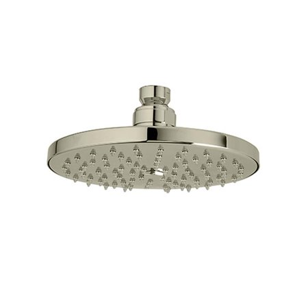 """Rohl 1073-8PN Rodello 6"""" Wall/Ceiling Mount Single Function Circular Rain Showerhead In Polished Nickel"""