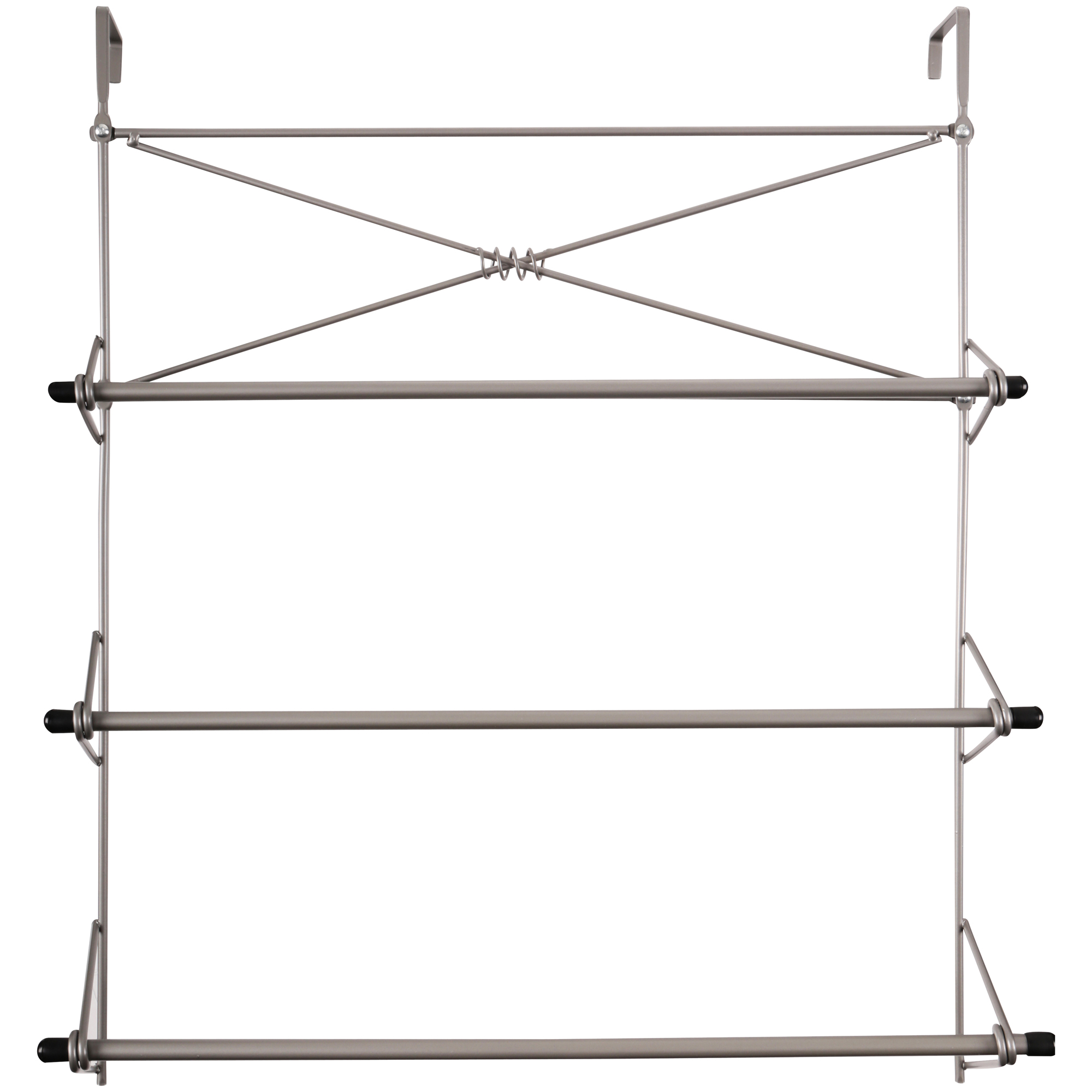 Zenna Home Satin Nickel Over the Door Towel Rack