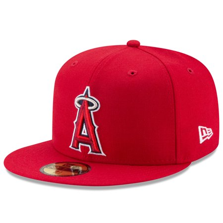 Los Angeles Angels New Era Game Authentic Collection On-Field 59FIFTY Fitted Hat - Red Angels Authentic Team Cap