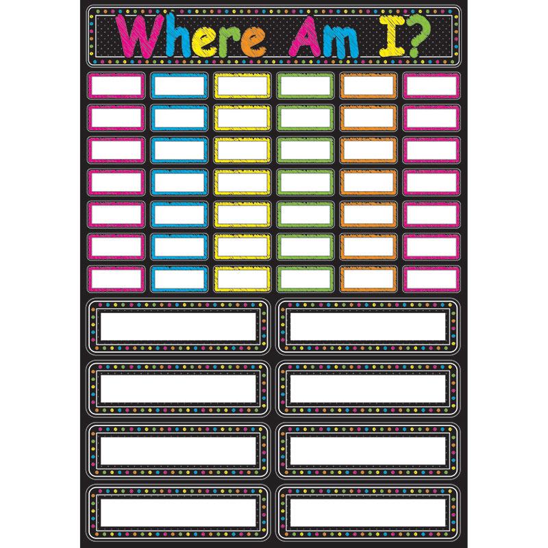 CHALK WHERE AM I MAGNETIC MINI BBS
