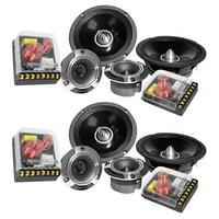 "2) Pairs Rockville X6.5C Competition 6.5"" 1000 Watt Component Car Audio Speakers"