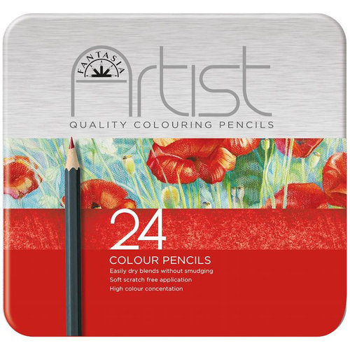 Fantasia Premium Colored Pencil Set, 24pc