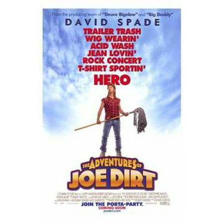 The Adventures of Joe Dirt Movie Poster (11 x 17) (Joe Dirt Wig)