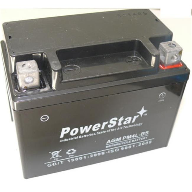 PowerStar PM4L-BS-106 Motorcycle Battery for Suzuki SP200 200CC 1986-1988