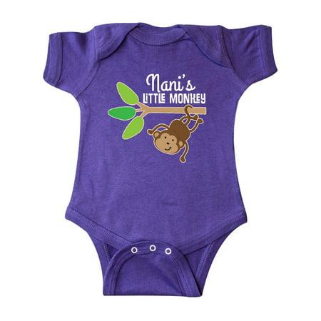Nani Little Monkey Grandchild Gift Infant Creeper](Monkey Onsie)