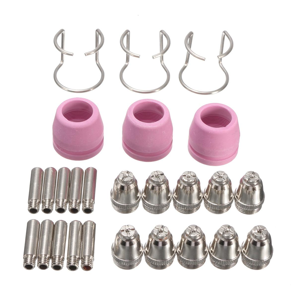 26PCS PL60 Plasma Cutting Torch Tip Nozzle Cutter Consumables Kit FOR / FIT LTP5000D LTP5000 LTPDC2000 LTPDC2000D