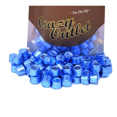 Rolo Chewy Caramels, Milk Chocolate, Blue Foils, Bulk, (Blue Caramel)