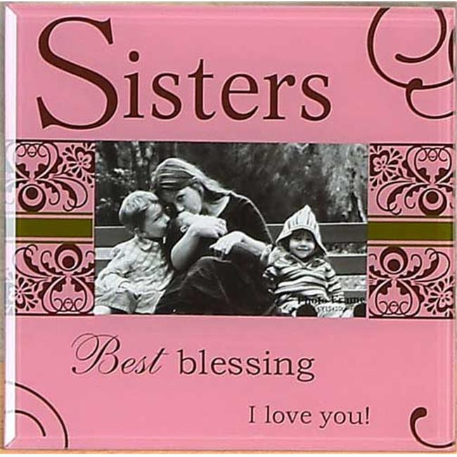 Unison Gifts HM-0508 Glass Photo Frame - Sisters Pink
