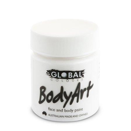 Halloween Face Paint Pics (Global Body Art Face Paint - Liquid White (45 ml/1.5)