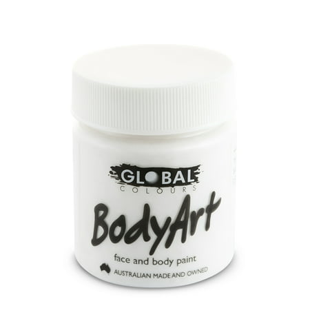 Global Body Art Face Paint - Liquid White (45 ml/1.5 oz)