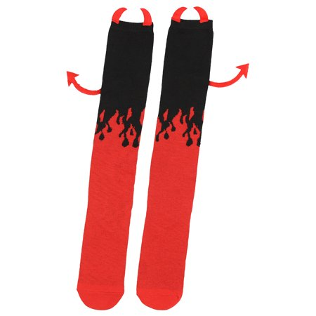 Womens' Halloween Devil Knee High Casual - Halloween Socks