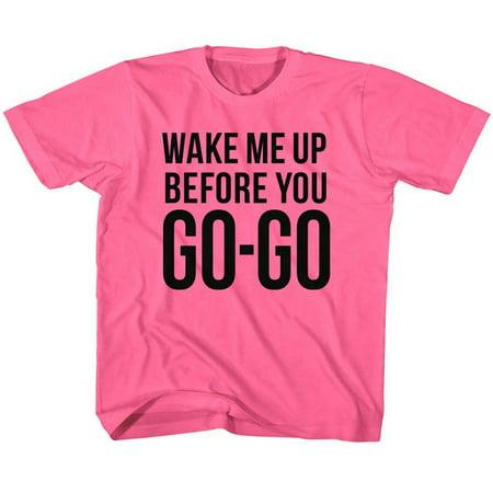 Wham GO-GO 2T Cotton T-shirt Hot Pink Child Boy's Girl's Short Sleeve T-shirt