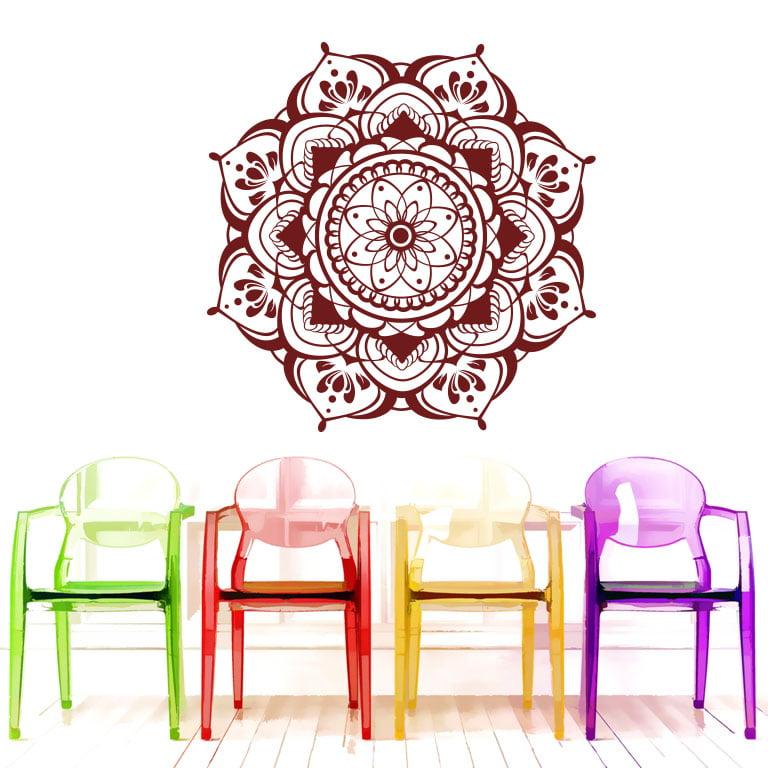 Mandala Flower Wall Decals Bedroom Sticker Boho Decor for Home - Walmart.com