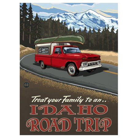 Bicycle Idaho Downhill Biker Mountains Travel Art Print Poster by Paul A. Lanquist (9