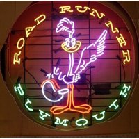 "Desung Brand New Road Runner Plymouth Super Bird Neon Sign Lamp Glass Beer Bar Pub Man Cave Sports Store Shop Wall Decor Neon Light 24""x 20"" WML11"