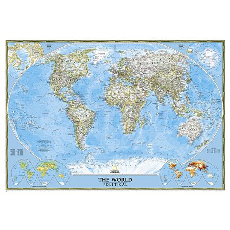 National geographic: world classic wall map - laminated (43.5 x 30.5 inches) (other):