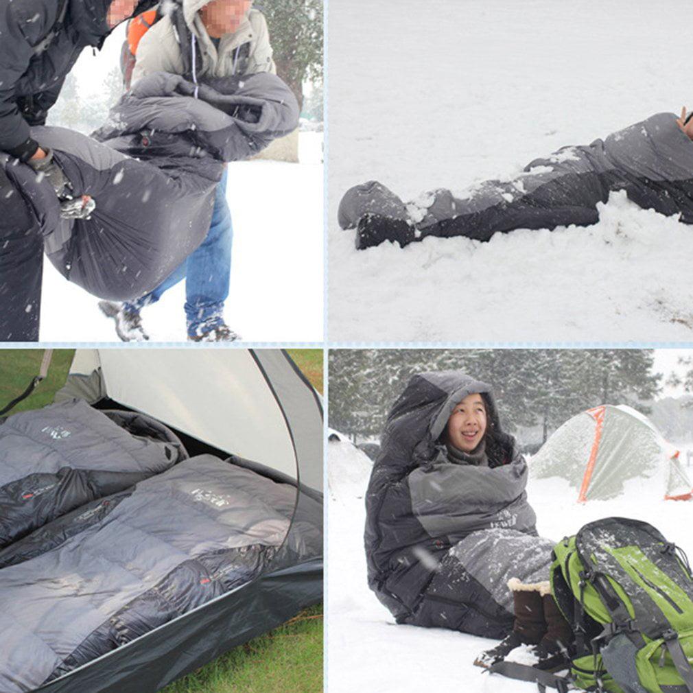 Autumn Winter Waterproof Warm Mummy Sleeping Bags Outdoor Camping Ultra Light by