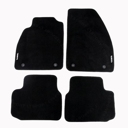 Custom Fit 13-15 Chevrolet Malibu 50oz Nylon Floor Mat Carpet Front + Rear Carpet Floor Mats Rear Wheel