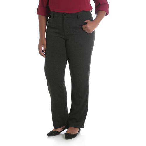 Lee Riders Women's Plus Ponte Knit Straight Leg Pant