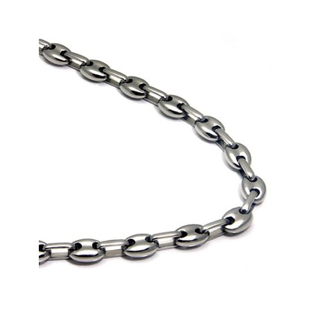 Titanium Men's 5MM Mariner Link Necklace Chain 24