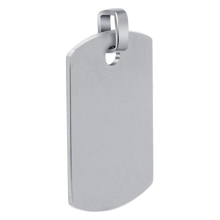 Gem Avenue Men's Stainless Steel Personalized Dog Tag