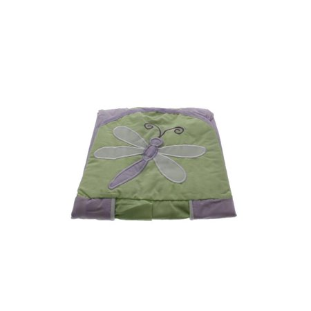 Collection Baby Diaper Stacker - Tiddliwinks Fireflies Embroidered Baby Girl Diaper Stacker Green