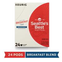 Seattle's Best Coffee Breakfast Blend Medium Roast Single Cup Coffee for Keurig Brewers, Box of 24 K-Cup Pods