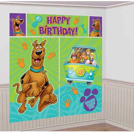 Scooby Doo Where Are You Scene Setter Plastic Poster Decoration Kit - Scooby Doo Cake Decorations