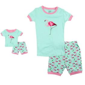 Lazy One Girls Pink Bear Plaid 100/% Cotton Pajamas Snug Fit Pajama Set PJs