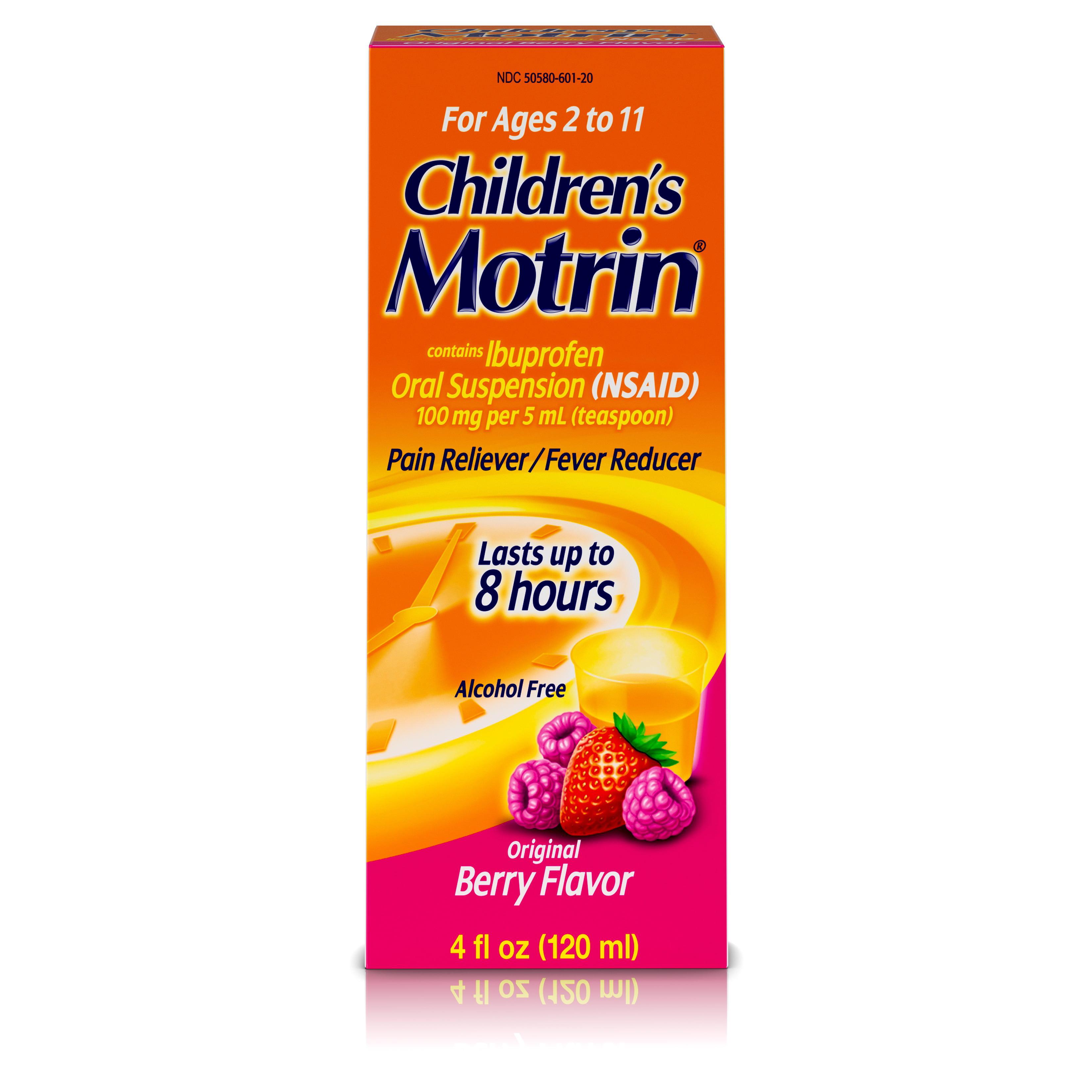 Children's Motrin Oral Suspension, Ibuprofen,Pain Relief, 4 Oz