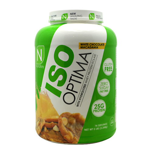 Nutrakey Iso Optima, White Chocolate Macadamia, 5 lbs