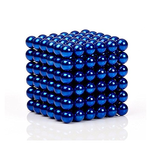 5MM 216 Pieces Multicolored Magnetic Balls MagnetsToys Sculpture Building  Magnetic Blocks Magnet Cube Gift for Intellectual Development Office Toy
