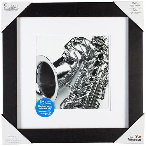 Pinnacle Frame Gallery Mat Frame, 12x12, Black