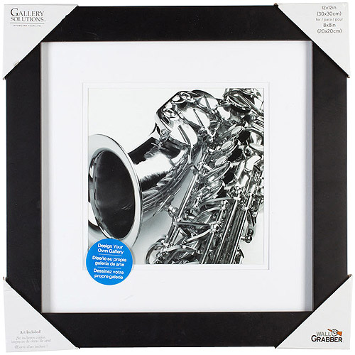 Pinnacle Frame Gallery Mat Frame, 12x12, Black