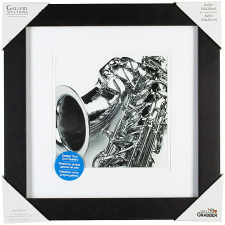 pinnacle frame gallery mat frame 12x12 black. Black Bedroom Furniture Sets. Home Design Ideas
