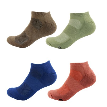 - Men's Rayon from Bamboo Colored Sports Superior Wicking Athletic Running Ankle Socks - Assortment 98 - 4prs