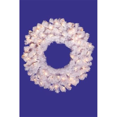 Vickerman A805836 36   Crystal White 3 Ring Wreath 190 Tips - image 1 of 1